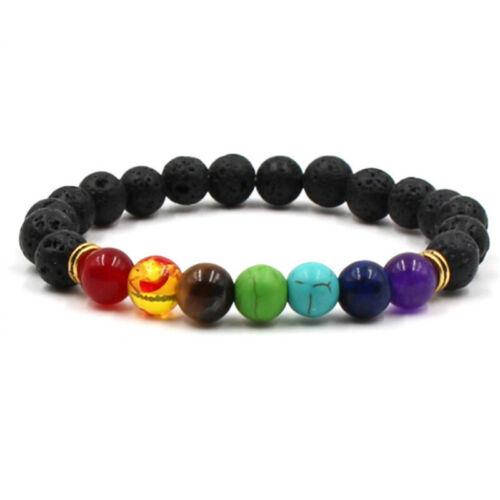8mm Mens Womens Stone Chakra Healing Reiki Prayer Bead Bracelet 76 Styles Gift