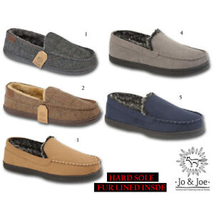 6b1b15d458bc5c Image is loading Mens-Winchester-Tweed-Slip-On-Moccasin-Winter-Slippers-