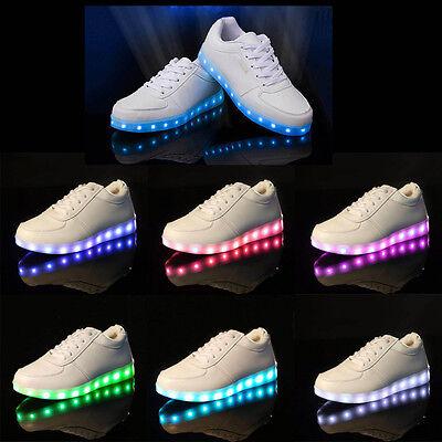 Herren/Damen LED Farbwechsel Schuhe Sneaker Leuchtende Turnschuhe Blinkschuhe
