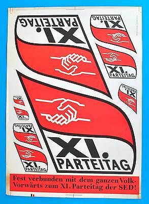 Ddr Plakat Poster 1177 | Xi Parteitag Der Sed 1985 | 81 X 57 Cm Original Dewag