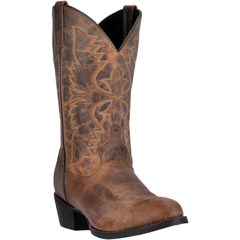 Laredo Men's  Birchwood 12-Inch Distressed Leather Stitched Design Round Toe Tan  fast shipping worldwide