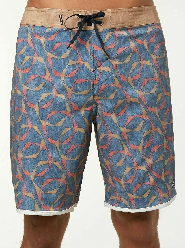 O'Neill HYPERFREAK LINK Mens Polyester Stretch Boardshorts 32 Dark bluee NEW