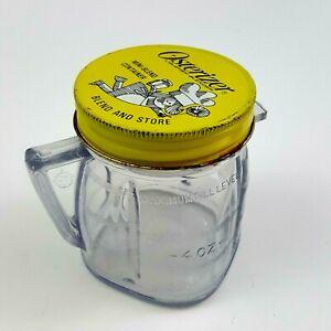 Osterizer-Mini-Blend-Plastic-Cup-w-Metal-Lid-Vintage-8oz-Jar-Container