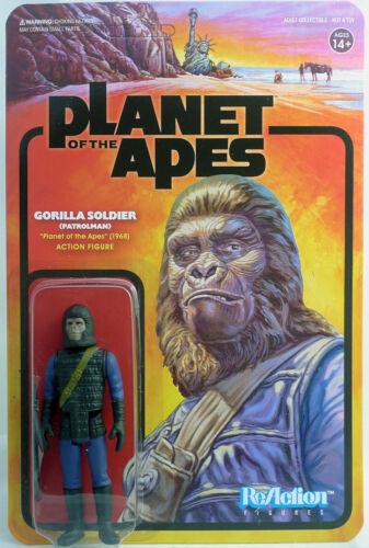 Planet of the Apes Gorilla Soldier Patrolman ReAction figure Super7 34382
