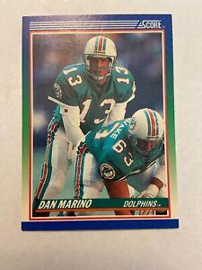 1990 Score Football Card #13 Dan Marino