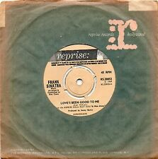 FRANK SINATRA - LOVE'S BEEN GOOD TO ME / A MAN ALONE. (UK, 69, REPRISE, RS20852)
