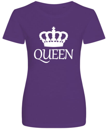 Queen Crown Logo Slogan Graphic New Womens T-shirt
