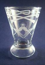 Logen-Glas kl.Kanone m. Freimaurer-Motiv Freemason Glass