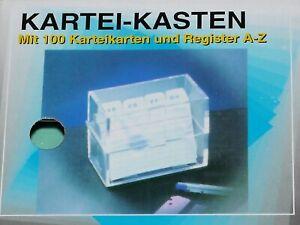 2x-Kartei-Kasten-inkl-100-Karteikarten-und-Register-A-Z-DIN-A8
