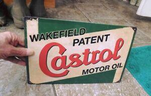 """ WAKEFIELD PATENT CASTROL MOTOR OIL "" Metal Garage Sign 12"" x 8"" or 30cm x 20cm"