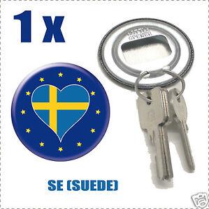 Décapsuleur porte clef Drapeau Europa  Flag SE (SUEDE)