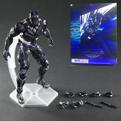 Play Arts Kai Black Panther Marvel Universe Action Figure Model Statue Toy Gift Mild And Mellow