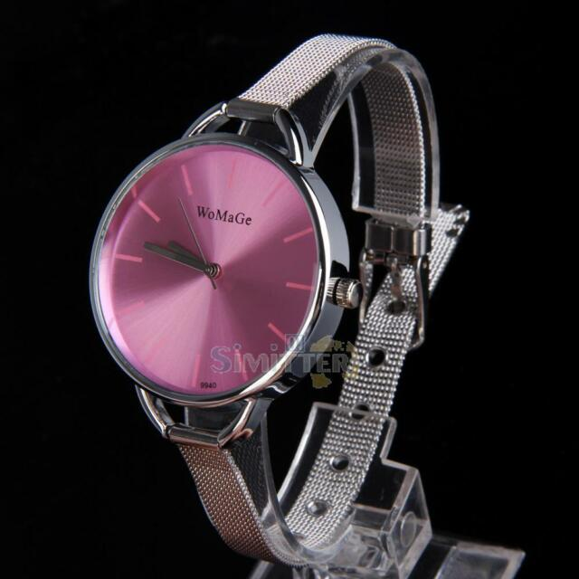 Fashion Classic Women\'s Lady Quartz Stainless Steel Analog Wrist Watch Bracelet