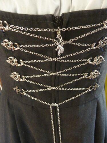 Dirndlkette Miederkette Farbe silber 1 m lang mit Hirschanhänger