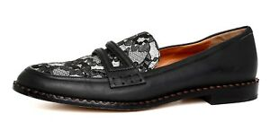 Marc-By-Marc-Jacobs-London-Calling-Leather-Lace-Loafer-Black-Women-Sz-39-2801