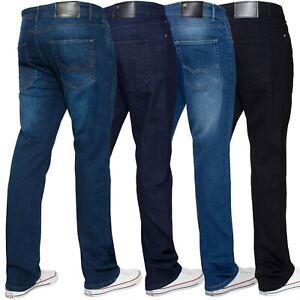 ENZO-Jeans-para-Hombre-Elastico-Pierna-Recta-Regular-Fit-Basicos-Denim-Pantalones-Tamanos-28-50-034