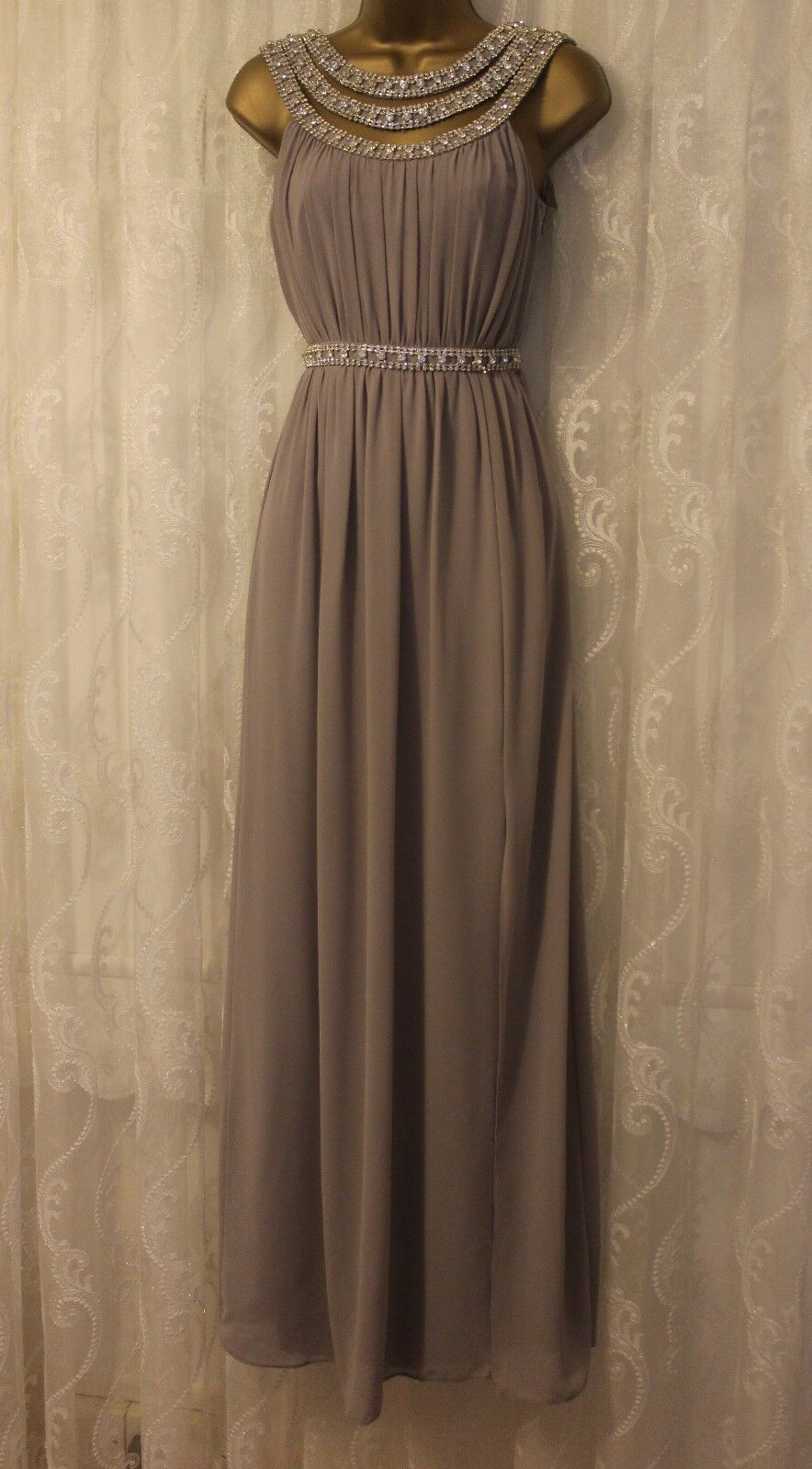 TFNC Wedding Diamante Embellished Straps Bridal Maxi Bridesmaid Party Dress 6 34