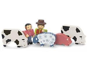 Fermier Animaux en bois made in France Jeu d'imitation Wooden toy Holzspielzeug WBWzUcAW-08134046-356354034