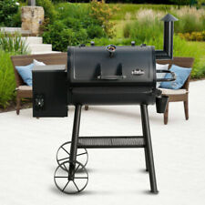 Smoker Pellet Grill Wood Barbecue  Dual-Function Auto Temperature Control Black