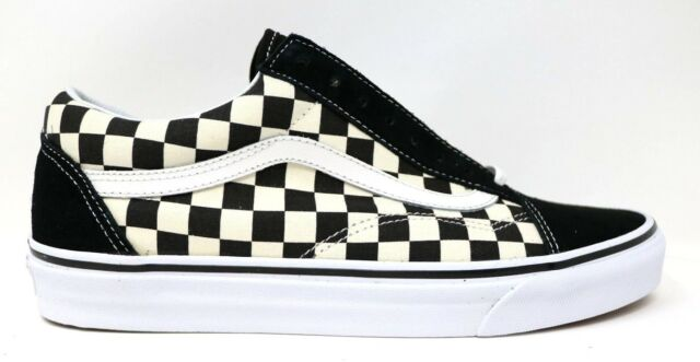 278f403b6ac VANS OLD SKOOL Primary Check Black White Mens 10 Sneakers VN0A38G1P0S