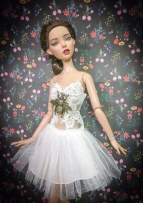 """handmade doll clothes for TONNER DEJA VU 16/"""" Yellow Rose dress"""