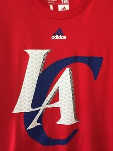 Shirt Hombres Tee Go Clippers The Adidas Red Grande Nba to Los Angeles 80vRU