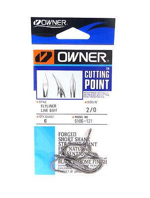 OWNER FLYLINER LIVE BAIT HOOK 5106 POCKET PK 6 4 2 1 1//0 2//0 3//0 4//0 SELECT SIZE