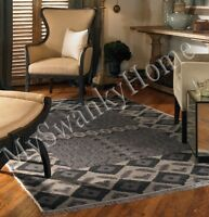 6 X 9 Hand Knotted Geometric Wool Area Rug Gray Black Neiman Marcus Contemporary