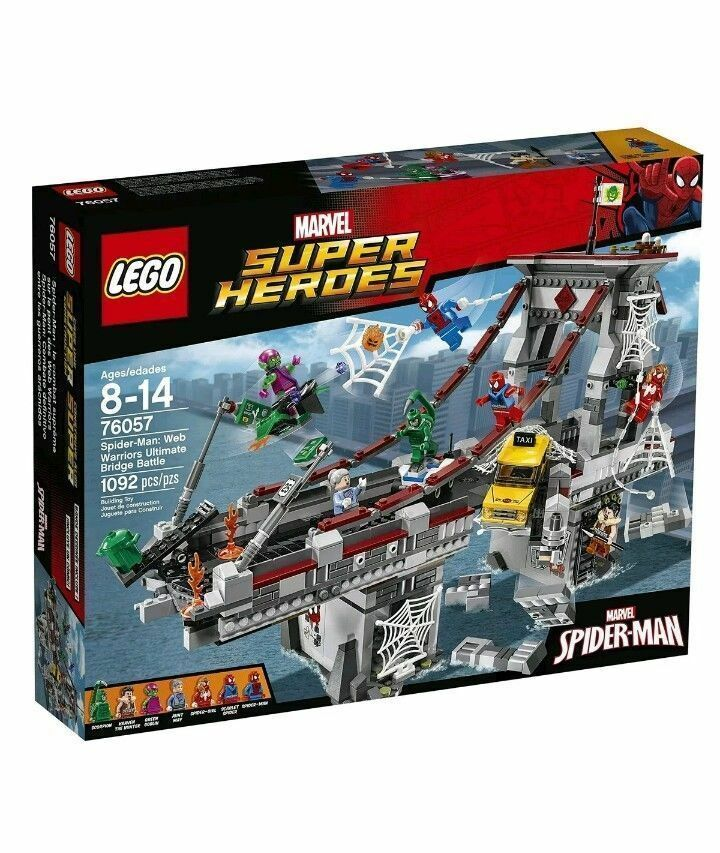 Lego Super Heroes : 76057 Spiderman : Web Warriors Ultimate Battle Bridge-BNISB