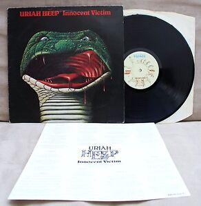 URIAH-HEEP-INNOCENT-VICTIM-LP-VINYL-VG-UK-1ST-PRESS-A1-B1-INSERT-INNER