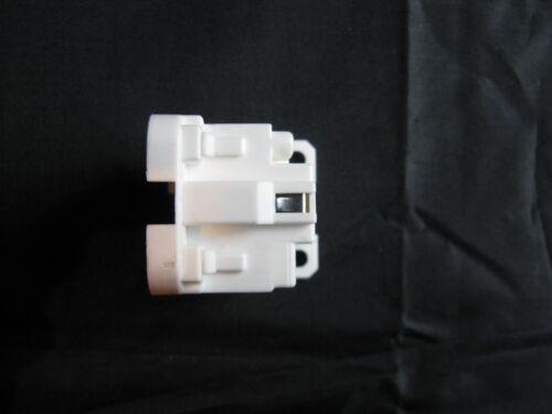 2x G24q 4 Pin Push Fit CFL Threaded Lamp Light Holder UK Seller Job Lot #W