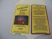 Wine Label: WILDSIDE VINES 2006 Sonata Kentucky Semi-Sweet Wine
