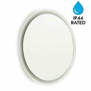 Modern-Round-LED-Illuminated-Bathroom-500mm-Mirror-IP44-Rated-Mains-Wired