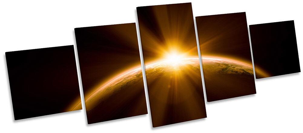Planet Earth SUNSET Astronomia Foto a Muro ARTE ARTE ARTE CINQUE PANNELLO 995902