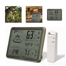 Digital Atomic Clock Weather Forecast Reader Date Temperature Remote Sensor New