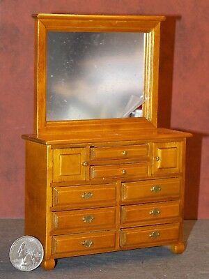 Dollhouse Miniature 1/'/' Scale  Walnut  Dresser