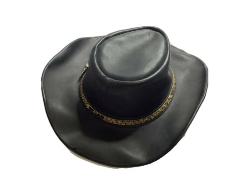 Mexican Leather Cowboy Cowgirl Hat, Size Fits All
