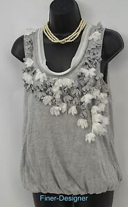 Sz Shell Cami Shabby Chic Top Cut S Lazer Verfraaid Anthropologie Tank Floral BcFpqZca