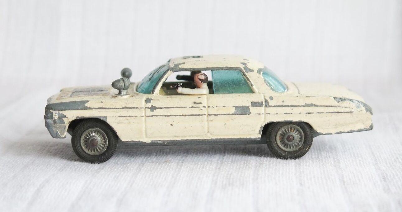 V RARE CORGI TOYS Nº 497 Oldsmobile 88 Man from UNCLE Original Diecast Voiture Crème