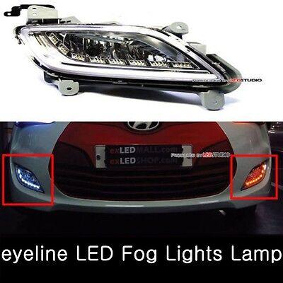 2way eyeline LED Fog Lights Lamp Assy Set Fits: Hyundai Veloster 2011-2017