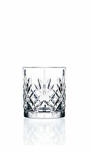 6 RCR Crystal Melodia Whisky Glass 230ml Whiskey Tumblers