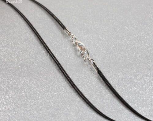 Lederkette nach MASS 1,5mm schwarz Lederhalsband Halskette Leder Lederband 55 MS