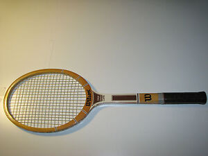 new arrival 52c53 3458a Details about Vintage Wilson Stan Smith Capri Wooden Tennis Racquet
