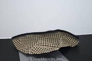 Longaberger Large Triangle Bowl Basket Liner in Khaki Check #23658164 NEW