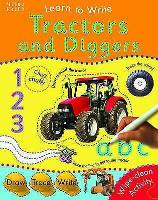 1 of 1 - Learn to Write Tractors and Diggers, Miles Kelly, Very Good Book
