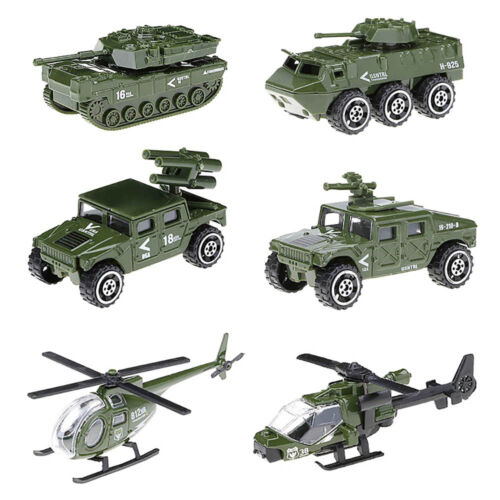 6Pcs Alloy Car Toy Military Fire Truck Swat Vehicle Machines Kids Birthday Gifts