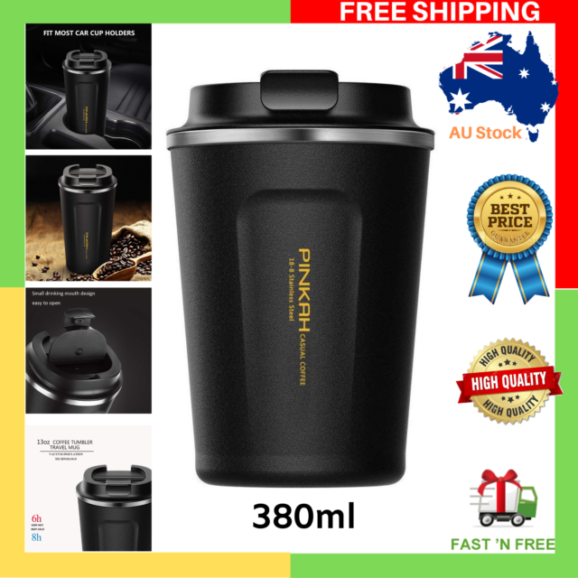 NEW Stainless Steel Coffee Travel Mug Vacuum Thermos Cup Milk Tea Drinkware