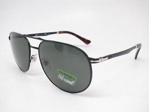 245f0b9580d Details about Persol PO 2455-S 1078 58 Demi Gloss Black w Green Polarized  Sunglasses 60mm