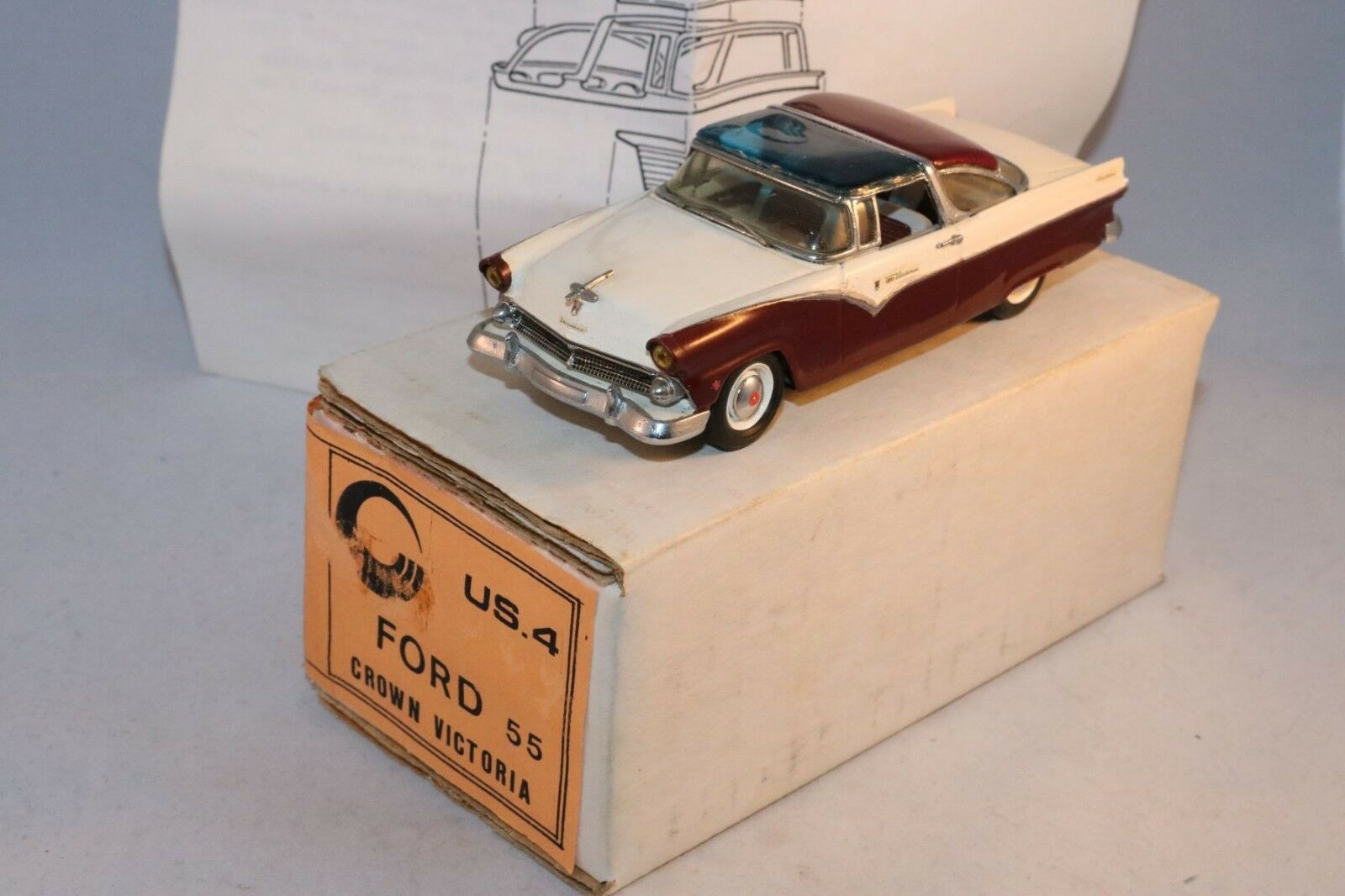 CCCF No 3 kit 5 hand built Ford Fairlane 1955 very near mint in box 1 43