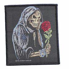 Black Rose Alchemist Sew-On Patch by Alchemy Gothic - Reaper - Skull